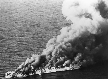 ناوچه سهند پس از حمله ناوگان آمریکا